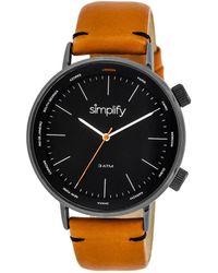 Simplify Unisex The 3300 Watch - Black