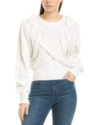 Ronny Kobo Yeva Wool-blend Sweater - White