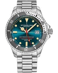 Stuhrling Original Aquadiver Watch - Metallic
