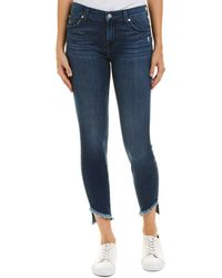 7 For All Mankind 7 For All Mankind Gwenevere Lexington Way Ankle Cut - Blue