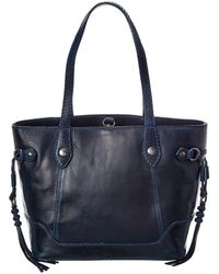 Frye Melissa Leather Carryall Tote - Blue