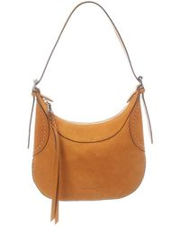 Rebecca Minkoff Pippa Small Studded Suede Hobo Bag - Brown