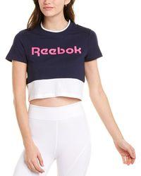 Reebok Linear Logo Crop T-shirt - Blue