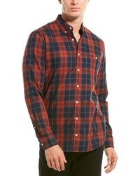 Joules Hewitt Classic Fit Woven Shirt - Red