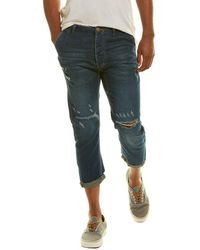 One Teaspoon Mr Browns Indigo Linen-blend Relaxed Tapered Jean - Blue