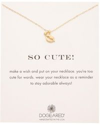 Dogeared - 14k Gold Over Silver So Cute Necklace - Lyst