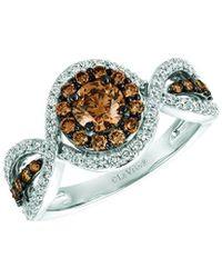 Le Vian ? Chocolatier? 14k Vanilla Gold? 1.17 Ct. Tw. Diamond Ring - Metallic