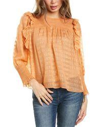 Joie Jamila Silk-blend Top - Orange