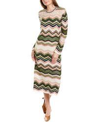 M Missoni Mixed Knit Wool & Mohair-blend Maxi Dress - White