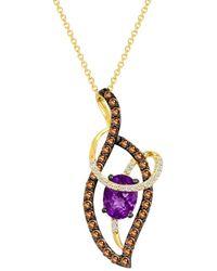 Le Vian - ® 14k Yellow Gold 1.59 Ct. Tw. Diamond & Amethyst Necklace - Lyst
