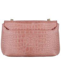 Bruno Magli Chain Leather Crossbody - Pink