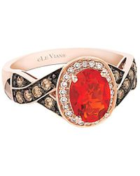 Le Vian - ® 14k Rose Gold 0.99 Ct. Tw. Diamond & Fire Opal Ring - Lyst
