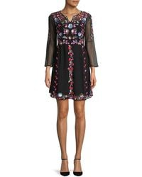 French Connection Edith Floral - Black