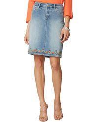 NYDJ 5 Pocket Skirt - Blue
