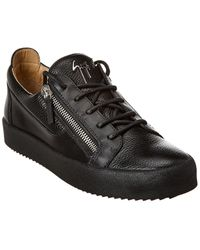 Giuseppe Zanotti Frankie Leather Trainer - Black