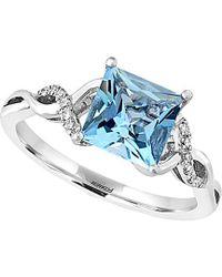 Effy - Fine Jewelry 14k 1.49 Ct. Tw. Diamond & Aquamarine Ring - Lyst