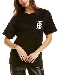 Burberry Emerson Logo-print Cotton-jersey T-shirt - Black