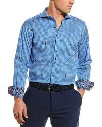 Robert Graham Pit Stop Woven Shirt - Blue