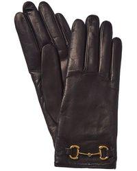 Gucci Horsebit Cashmere-lined Leather Gloves - Multicolour