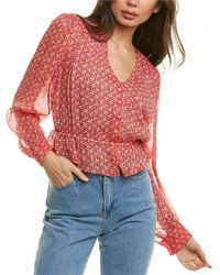 The Kooples Spring Liberty Blouse - Red