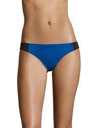 Stella McCartney Swim Iconic Colorblocked Classic Bikini Bottom - Blue