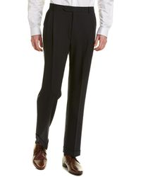 Brooks Brothers Madison Fit Wool-blend Pant - Blue