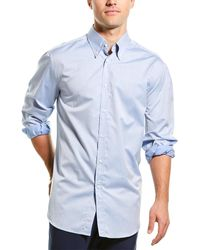 Brunello Cucinelli Basic Fit Woven Shirt - Blue