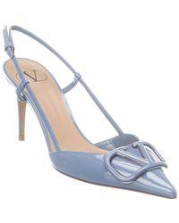 Valentino Valentino Garavani Vlogo 80 Patent Slingback Pump - Blue