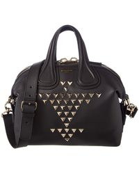 Givenchy | Nightingale Small Studded Leather Satchel | Lyst