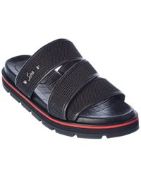 Christian Louboutin Zandal Leather Slide - Black