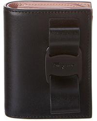Ferragamo Vara Rainbow Leather Wallet - Black