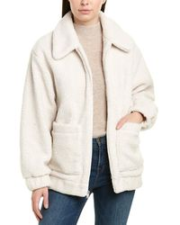 UGG Jackeline Teddy Bear Jacket - White
