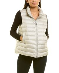 Peserico Quilted Down Vest - Grey
