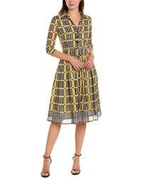 Samantha Sung Audrey 2 Wool & Silk-blend Shirtdress - Yellow