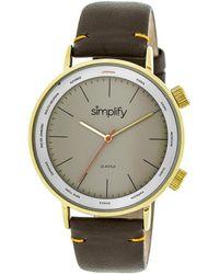 Simplify Unisex The 3300 Watch - Metallic