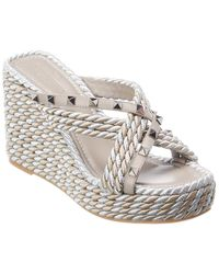 Valentino Garavani 95 Leather Sandal - Grey
