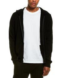 Phenix Jersey Full Zip Cashmere-blend Hoodie - Black