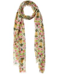 J.McLaughlin Leanne Silk & Linen-blend Scarf - White