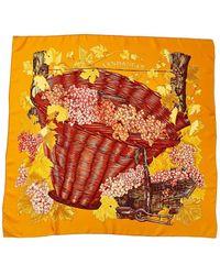 """Hermès """"vendanges,"""" By Valerie Dawlat Dumoulin Silk Scarf - Multicolour"""