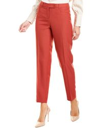 Anne Klein Duke Slim Leg Pant - Red
