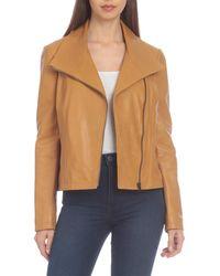 Badgley Mischka Envelope Leather Jacket - Yellow