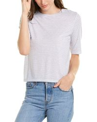 Vince Elbow-sleeve Top - White