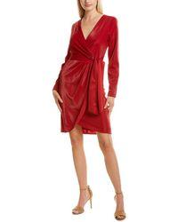 Julia Jordan Faux Wrap Dress - Red