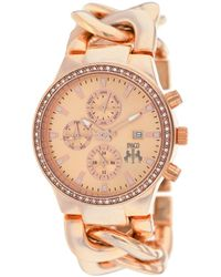 Jivago Lev Multi-function Rose Dial Rose Gold-tone Watch - Multicolour