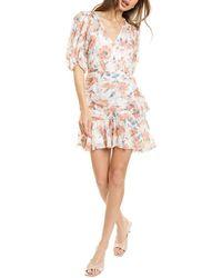 Rebecca Taylor Amelie Fleur Silk-blend Mini Dress - White