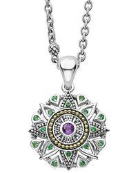 Lagos Wanderlust 18k & Silver Amethyst Necklace - Metallic