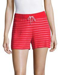 Sandro Striped Drawstring Short - Pink