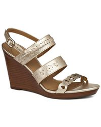 Jack Rogers - Arden Leather Wedge Sandal - Lyst