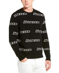 Moncler Wool & Cashmere-blend Jumper - Black
