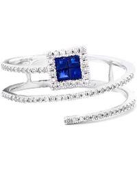 Diana M. Jewels - . Fine Jewellery 14k 0.40 Ct. Tw. Diamond & Sapphire Ring - Lyst